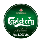 Etichetta della birra chiara carlsberg pils