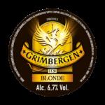 etichetta birra d'abbazia grimbergen blonde
