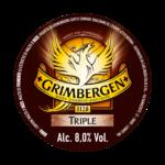 Etichetta della birra d'abbazia grimbergen triple