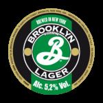 etichetta della birra artigianale brooklyn lager