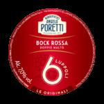 etichetta birra rossa poretti bock 6 luppoli