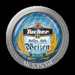 Etichetta della birra waiss tucher weizen