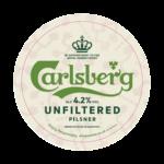 etichetta della birra pils carlsberg unfiltered